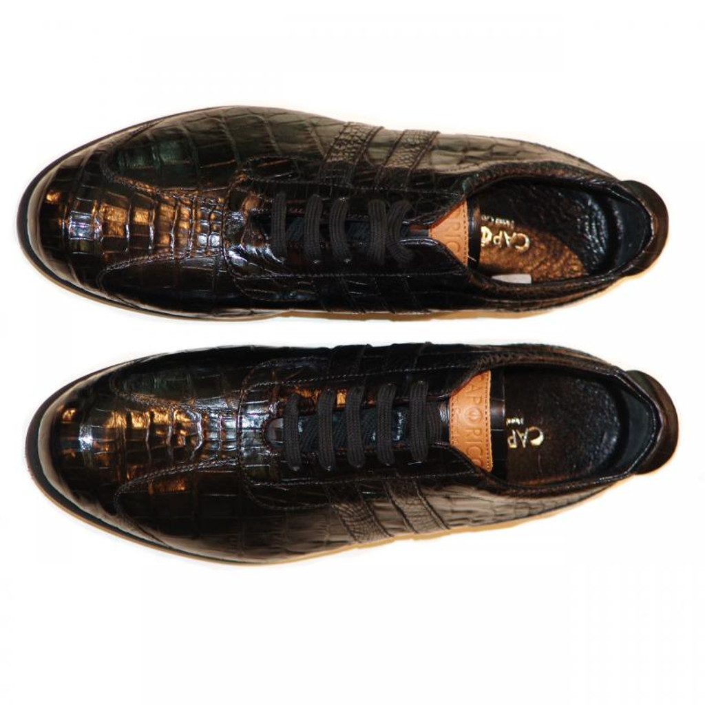 Caporicci 9412 Black Full Alligator Sneaker