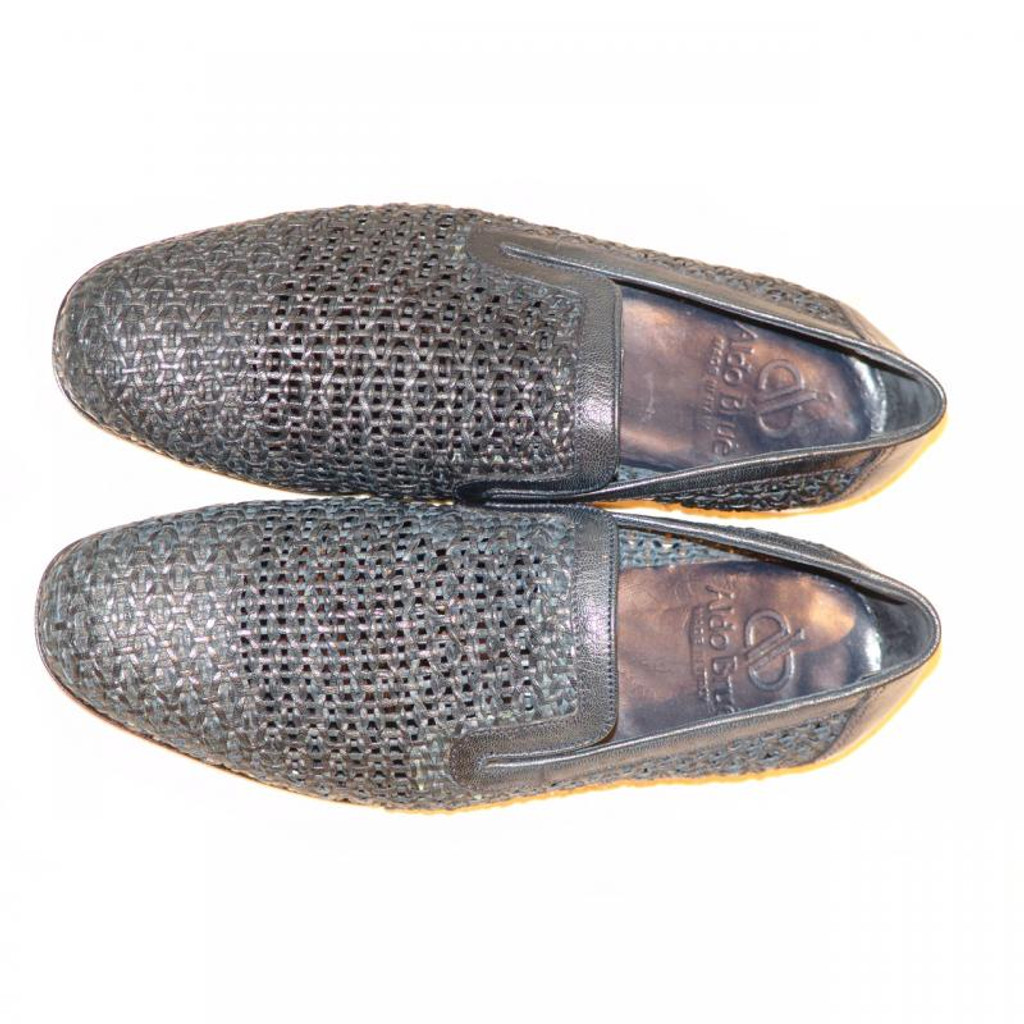 Aldo Brue 1369 Full Woven Leather Loafer Navy