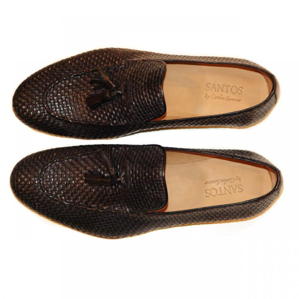 Pelle Line Exclusive Rimini Hand Woven Tassel Loafer Black