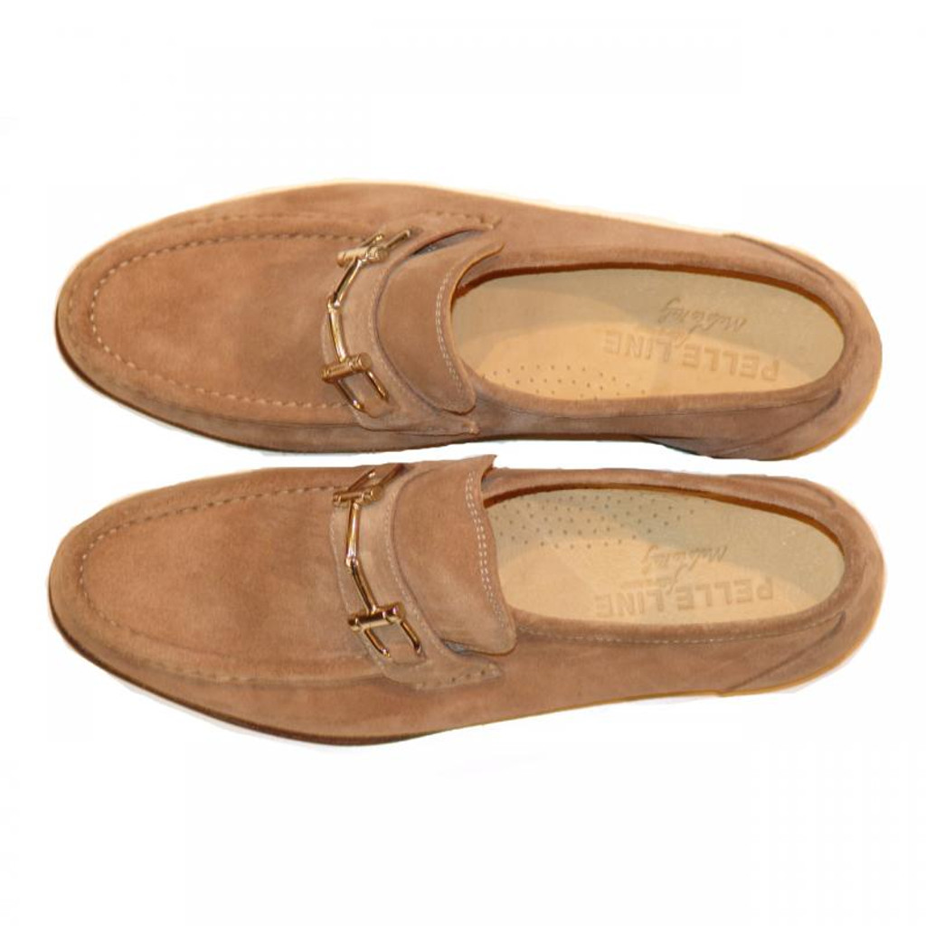 Pelle Line Exclusive 1310 Bit Buckle Loafer Tan Suede