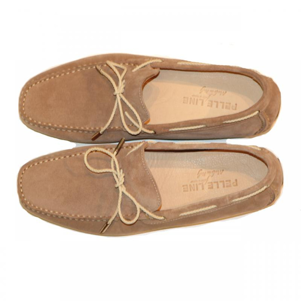 Pelle Line Exclusive 25155 Comfort Driving Moccasin Tan Suede