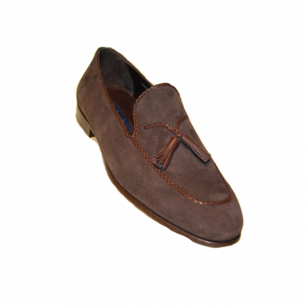 Corrente 4629  Tassel Loafer - Brown Suede