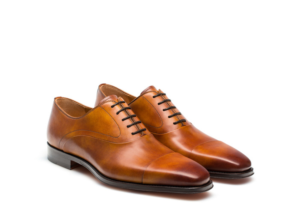 Magnanni- Saffron Cap toe Lace up- Cuero