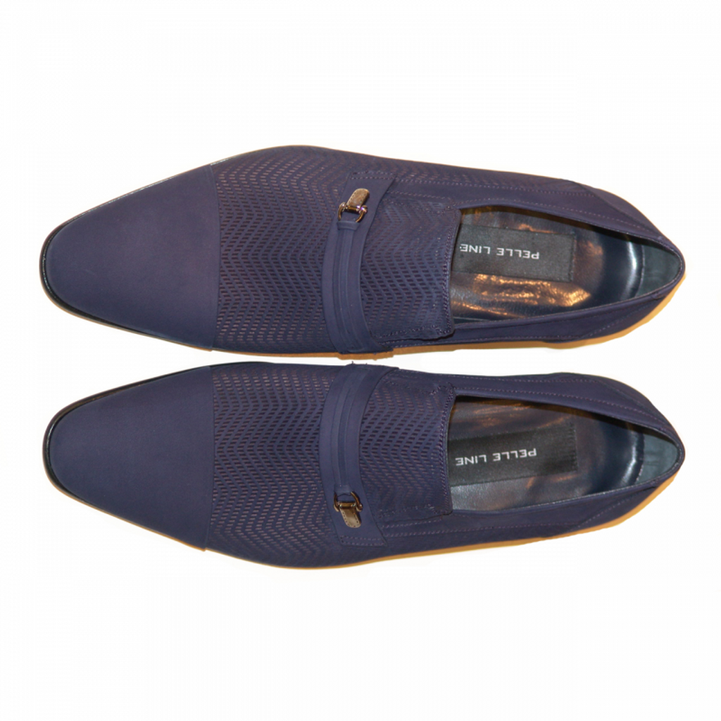 Pelle Line Exclusive 3435 Perforated Nubak Cap Toe Loafer Blue