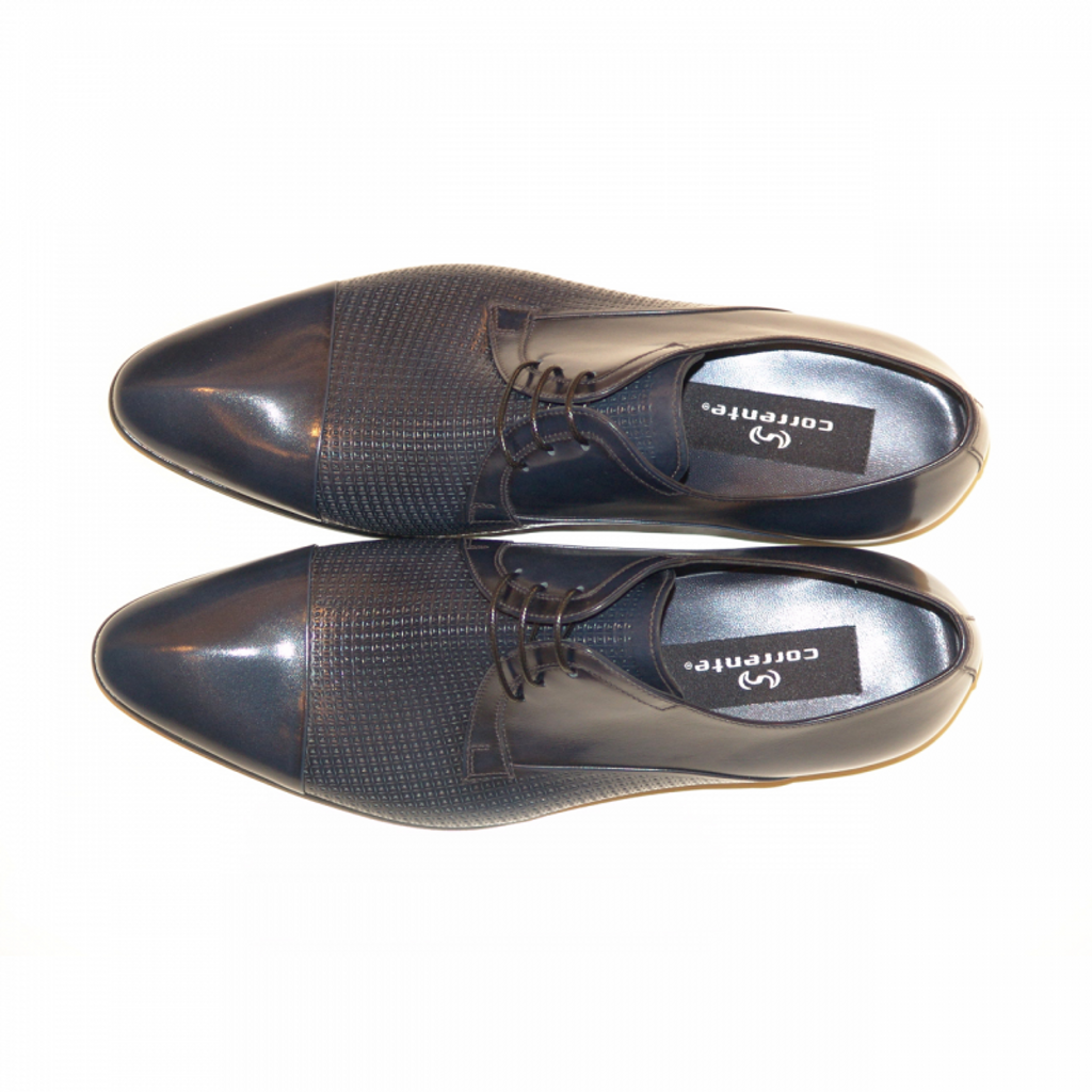 Corrente 3670 Cap toe Perforated lace up- Navy