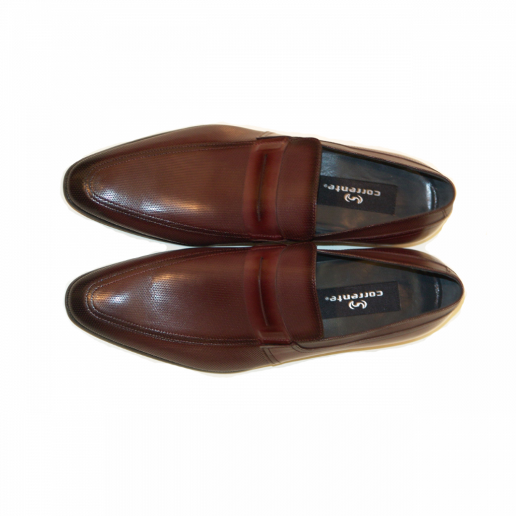 Corrente 4127 Perforated Loafer- Burgundy