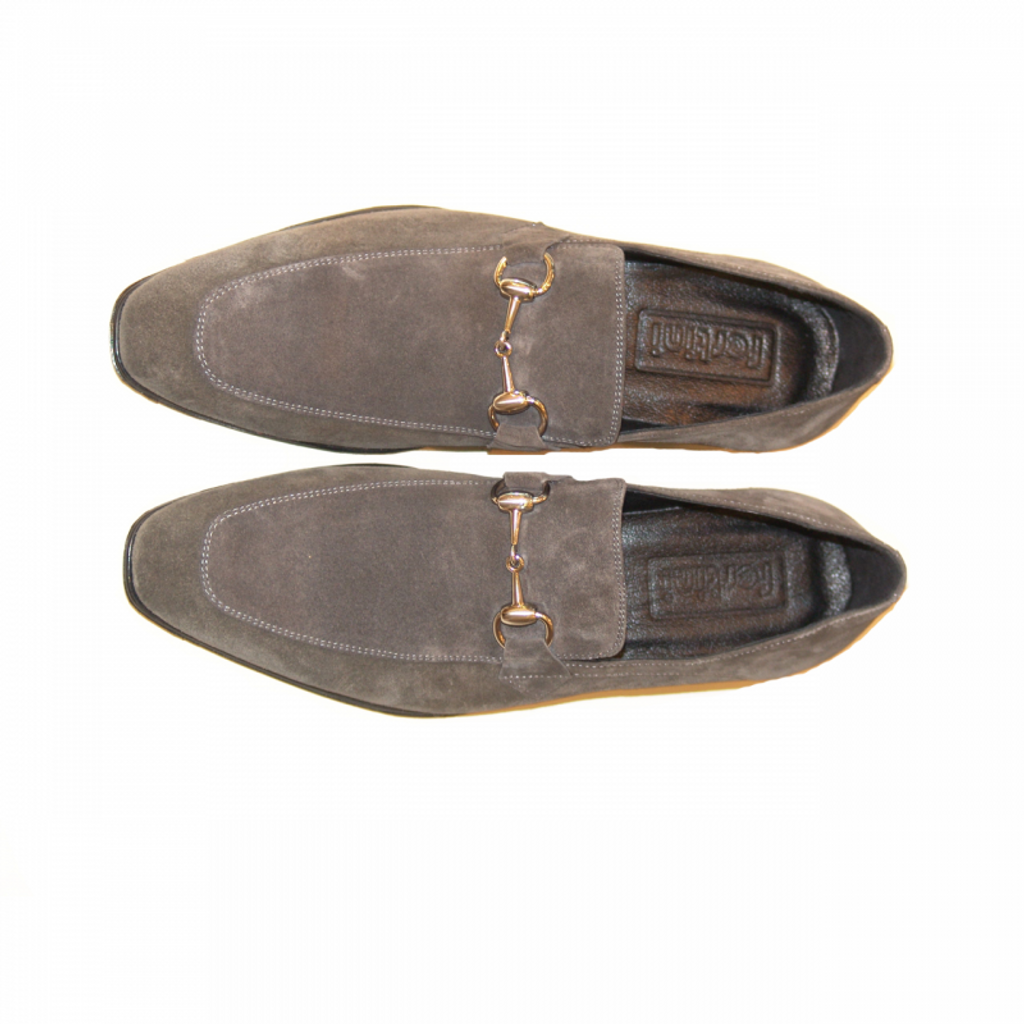 Pelle Line Exclusive C152 Bit Buckle loafer Grey Suede