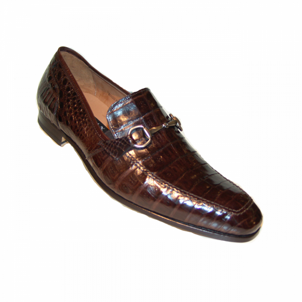 Pelle line Exclusive Mezlan Torino Alligator Bit Loafer Dark Brown