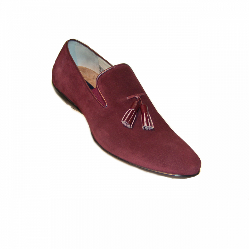 Corrente 15003 Tassel Loafer - Burgundy Suede