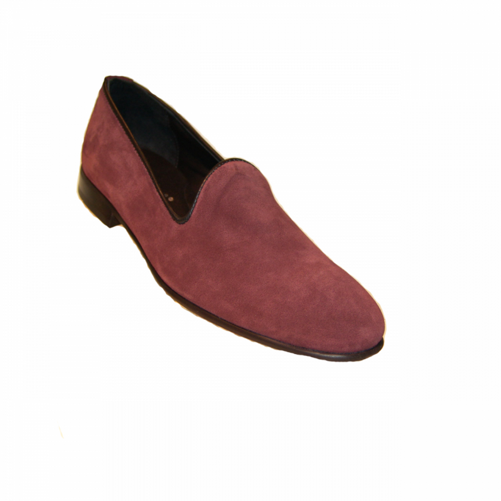 Pelle Line Exclusive 80200 Plain Loafer Burgundy Suede