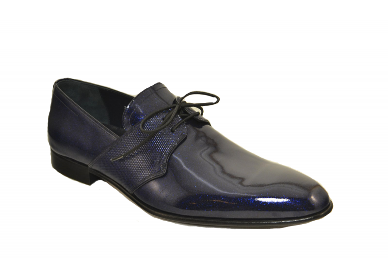 Corrente 3454 Formal sparkeling leather laceup- Navy