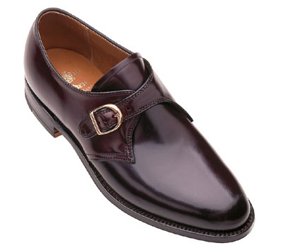 Alden Shell Cordovan Monk Strap Oxford 954 Dark Burgundy