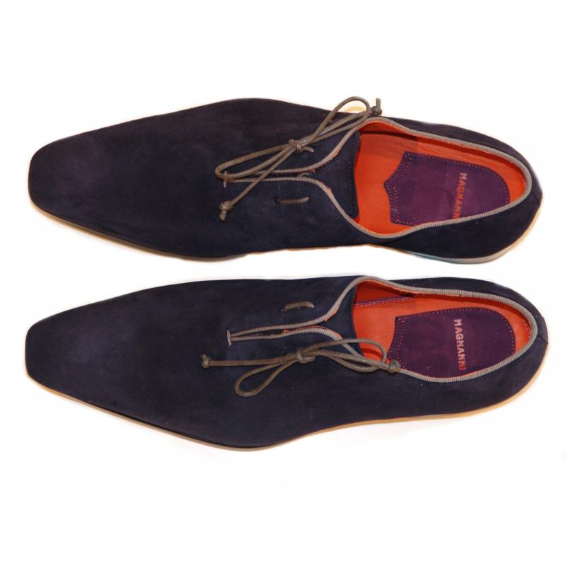 Magnanni Exclusive 6667 Suede Side Lace Navy/Grey