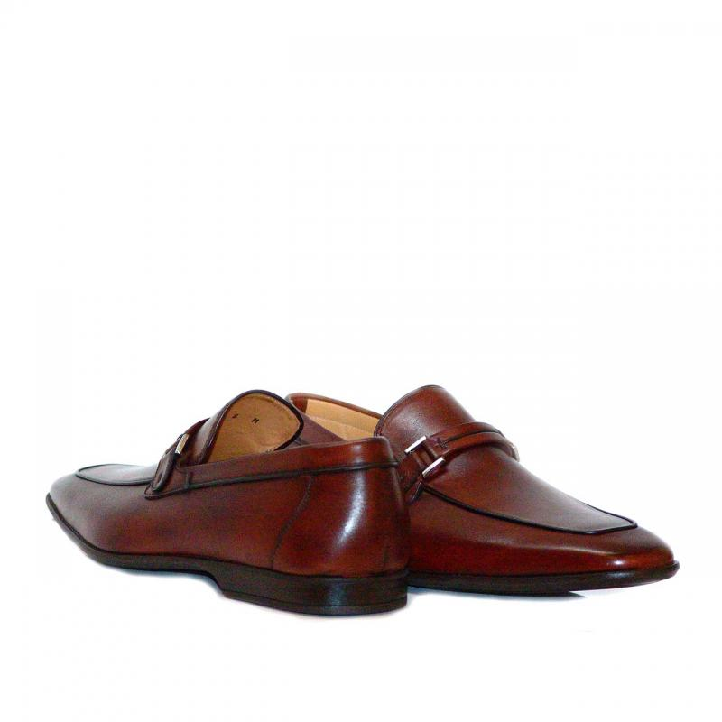 Magnanni 13017 Soft Leather Buckle Loafer Tan