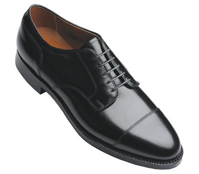 Alden 971 Straight Tip Blucher Oxford Black