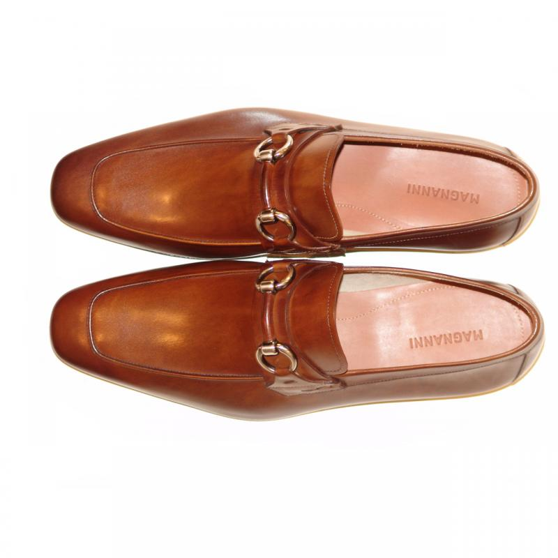 Magnanni 13008 Brown Hand Antiqued Leather With Light Weight Super Flex Sole