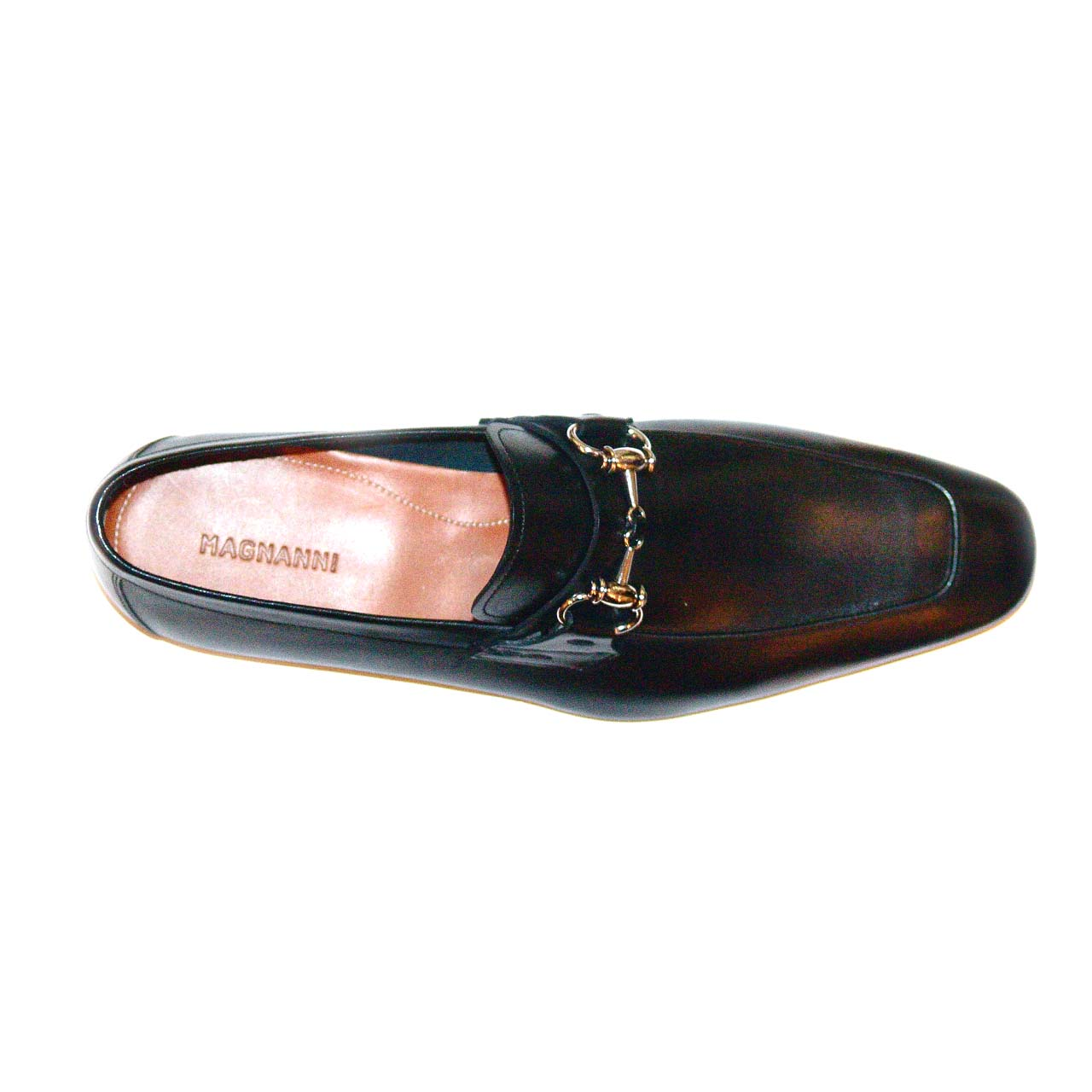 Magnanni 13008 Black Hand Antiqued Leather With Light Weight Super Flex Sole