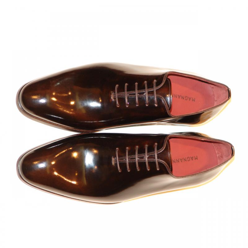 Magnanni 14230 Plain Toe Lace Up Chocolate Brown