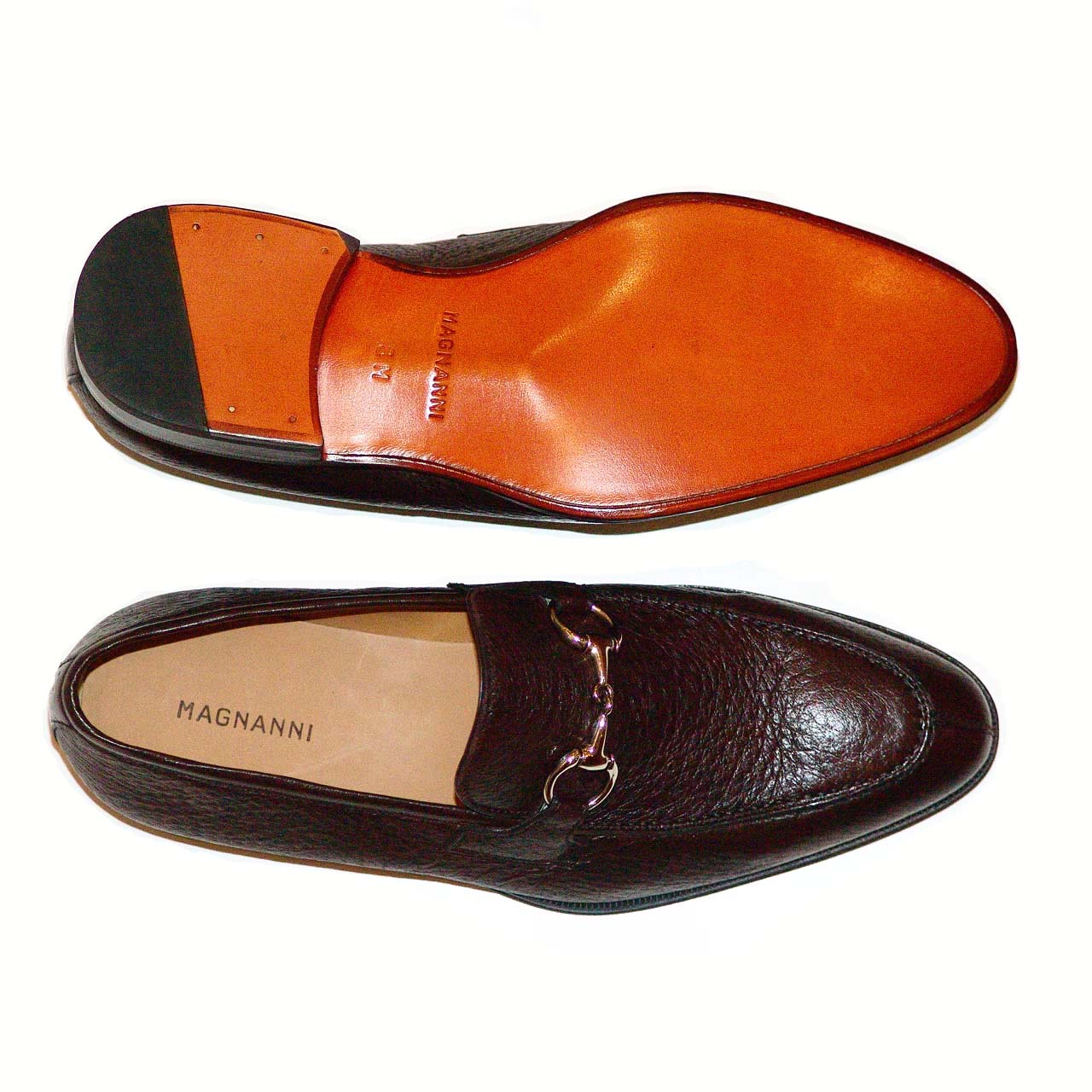 Magnanni 13908 Brown Full Peccary Leather Very Soft