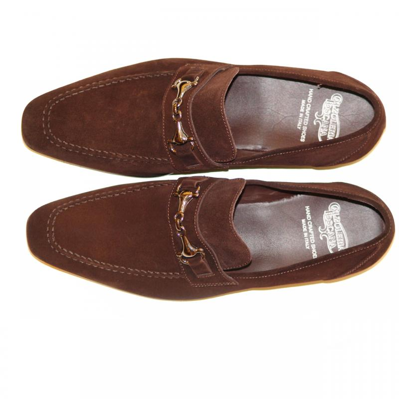 Pelle Line Exclusive 1004 Brown Suede With Bit Buckle