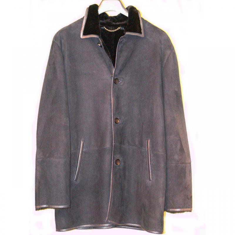 Pelleline Shearling Coat Navy