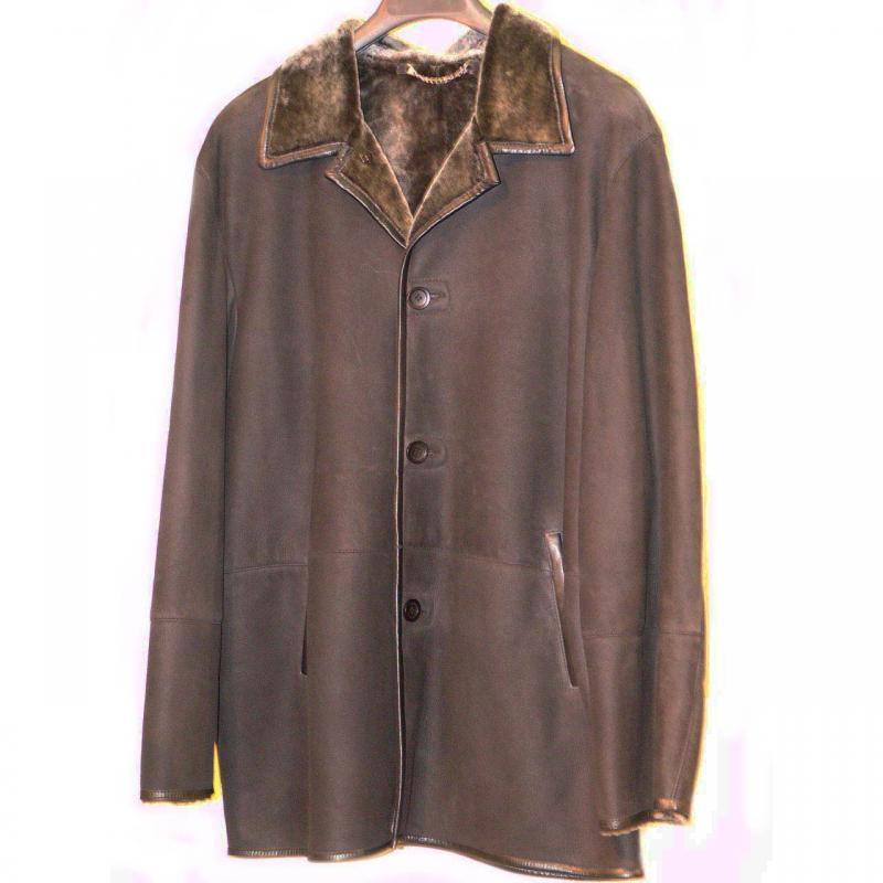 Pelleline Shearling Coat Black