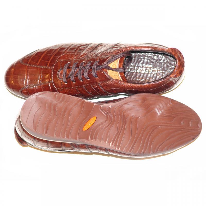 Caporicci 9412 Brown Full Alligator Sneaker
