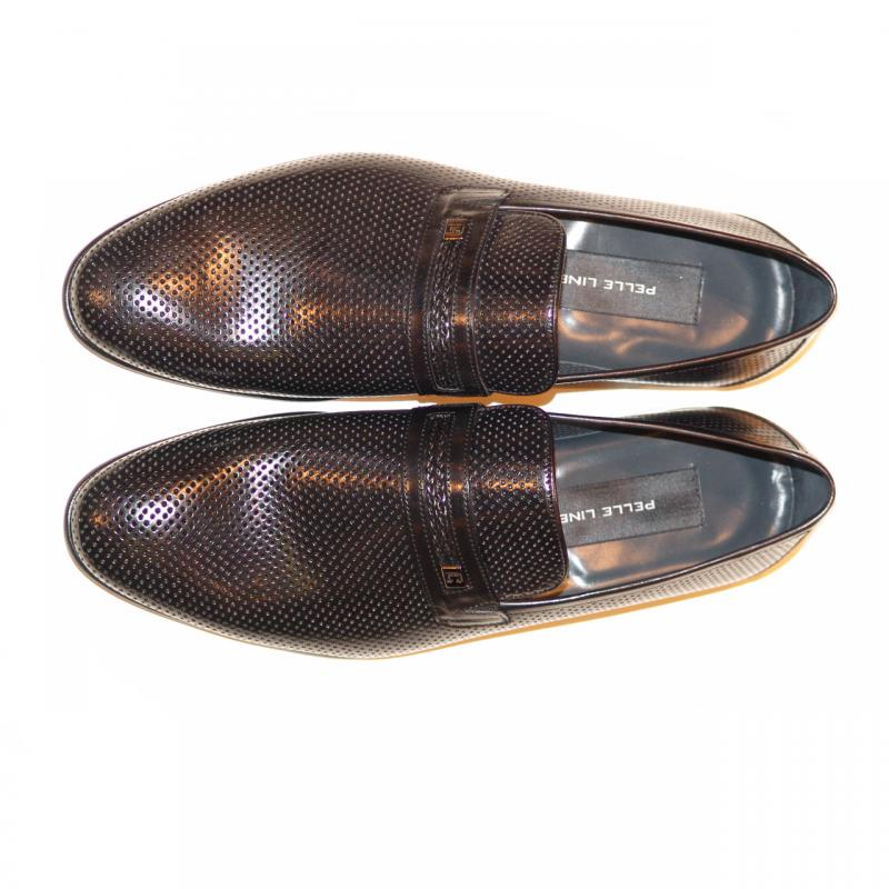 Pelle Line Exclusive 3802 Perforated Loafer Black