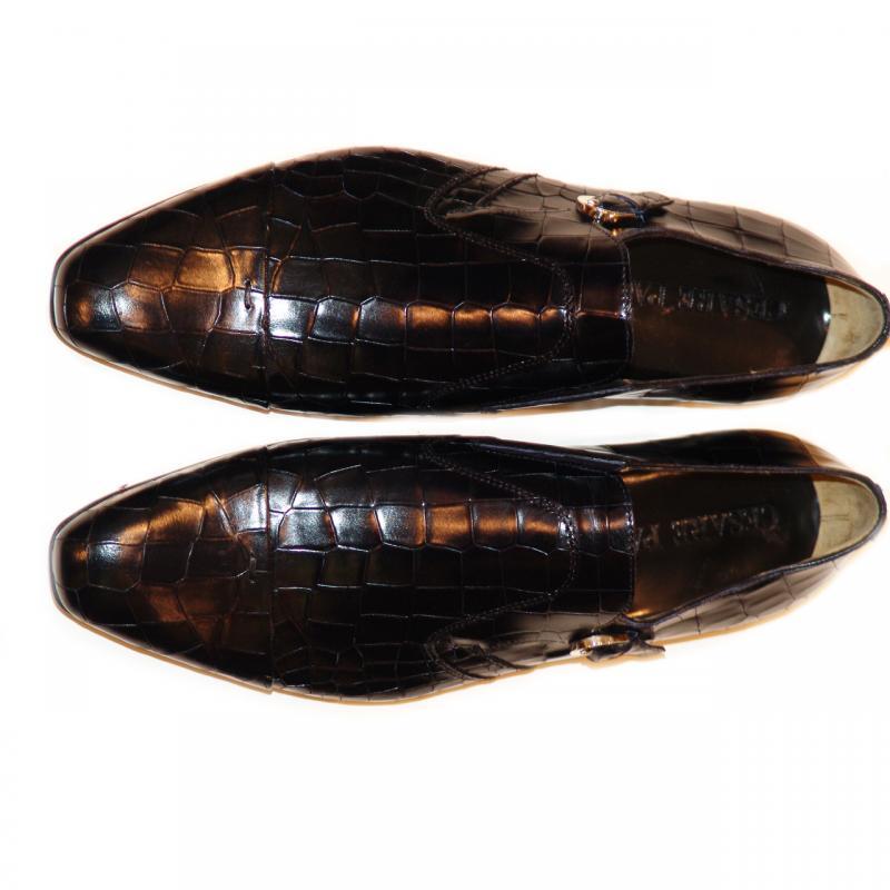 Cesare Paciotti 47307 Alligator Design Monk Strap Dark Navy