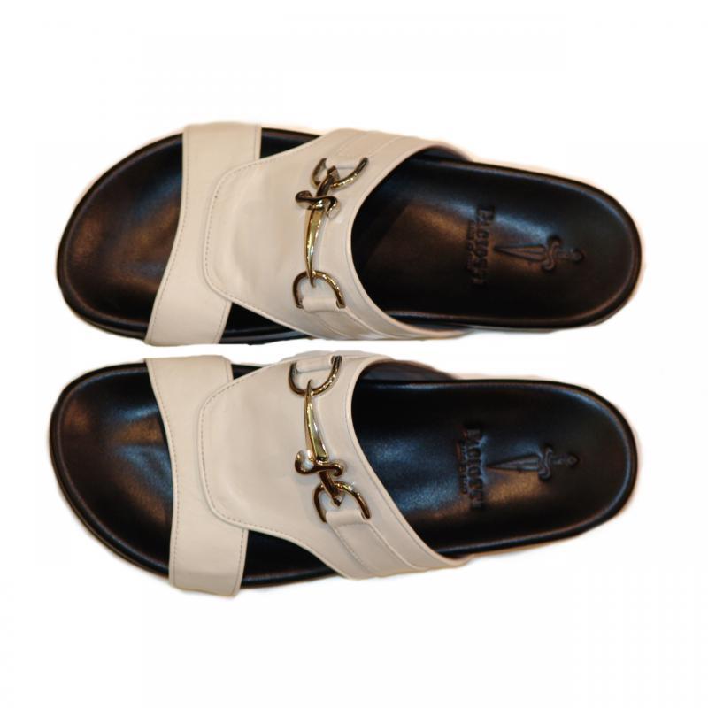 Cesare Paciotti 25221 Open Toe Sandal White
