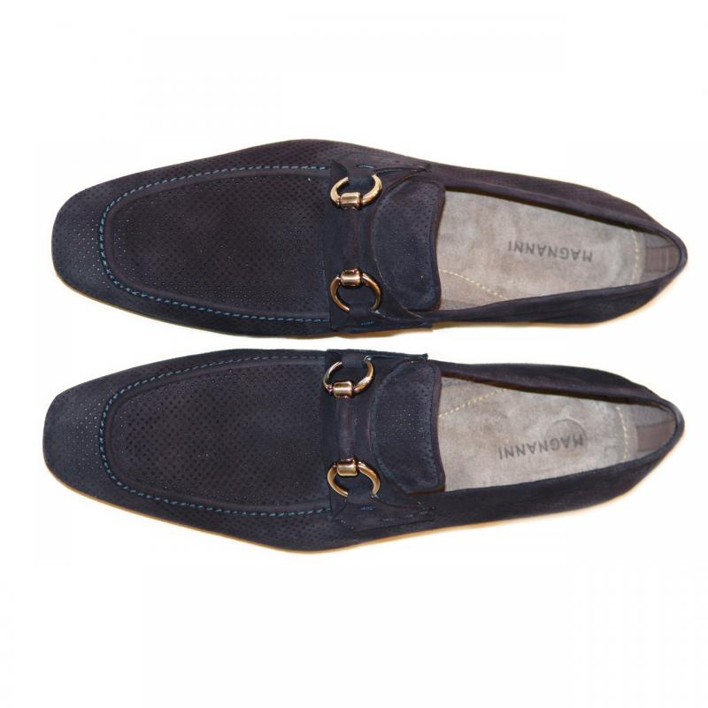 Magnanni 13008 Navy Perforated Suede With Light Weight Super Flex Sole