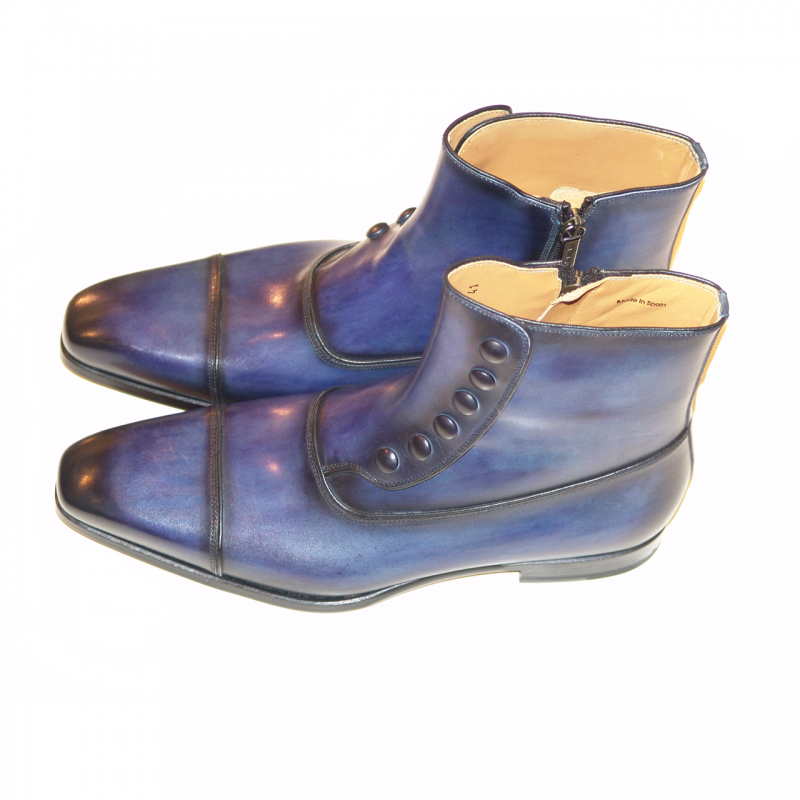 Magnanni Seleccion Collection 14430 Zipper Boot Oceano Blue
