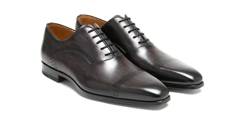 Magnanni Jenero Cap Toe Lace Up Grey