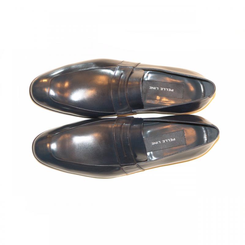 Pelle Line Exclusive 4106 Fashion Penny Loafer Navy
