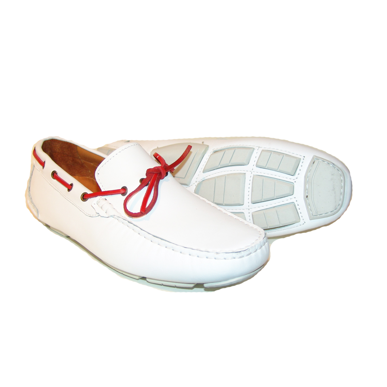 Pelle Line Exclusive 7810- White driving shoes