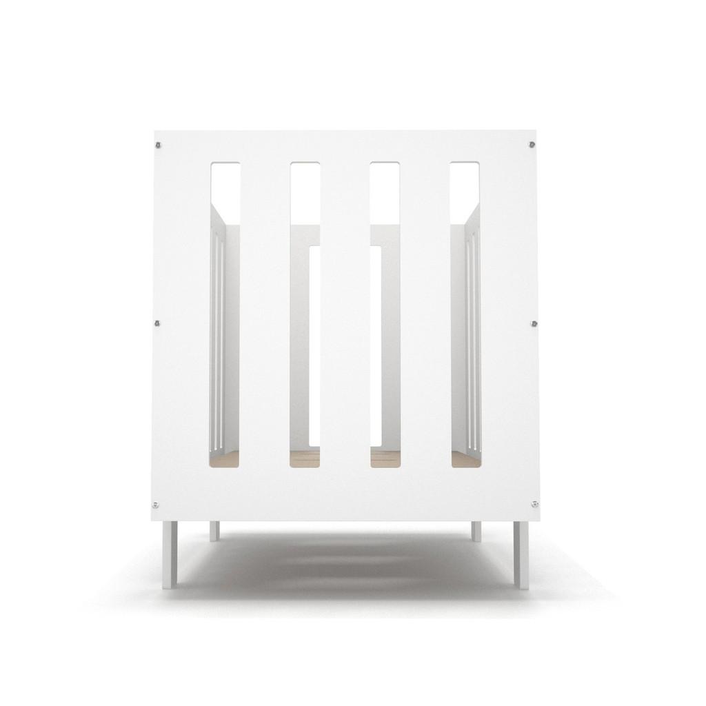Eicho Crib End view in white