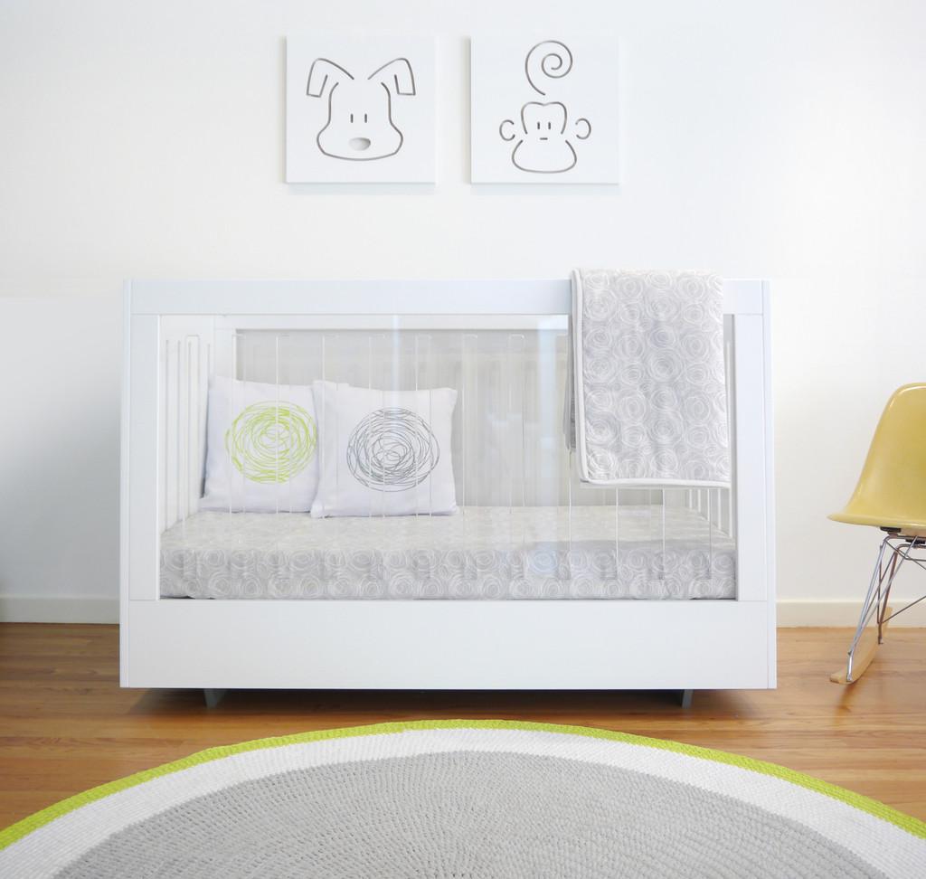 Roh Crib Double Sided Acrylic and Walnut
