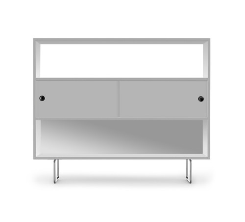 Alto Shelving shown with White panels.