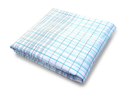 Hashtag Organic Crib Sheet - Blue