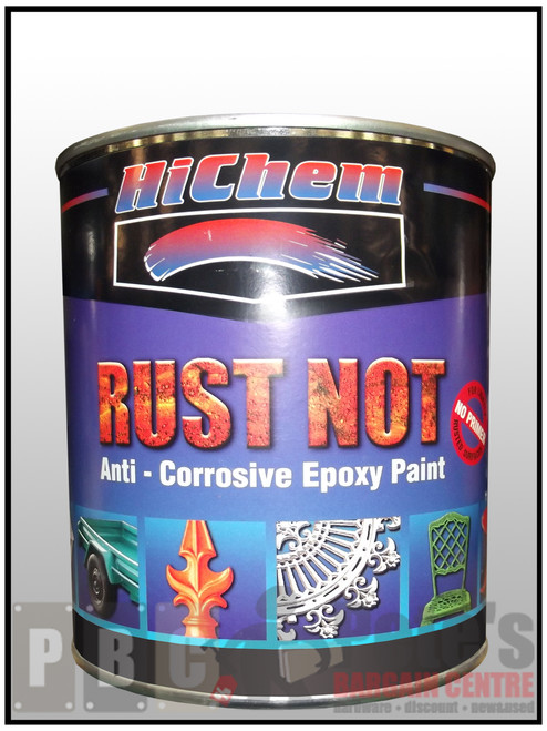 RUST NOT 1 Litre Can Satin Black