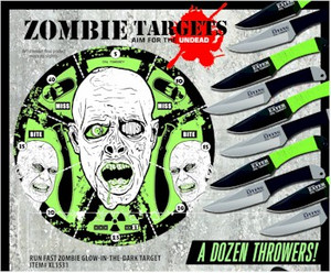 Run Fast Zombie GID Target/Knife Set