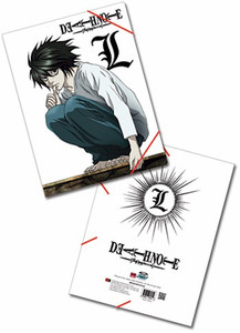 Death Note Elastic Band Document Folder - L Emblem