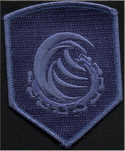 Water Element Shield Embroidered Patch