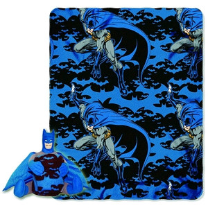 Batman Dark Night Fleece Throw W/Hugger Plush