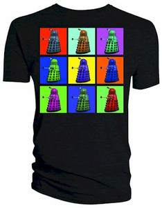Doctor Who T-Shirt: Psychedelic Squares Dalek (Black)
