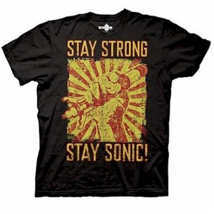 Doctor Who T-Shirt : Stay Strong Stay Sonic (Black)