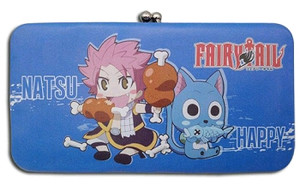 Fairy Tail Wallet - SD Natsu & Happy Eating (Hinged Style)