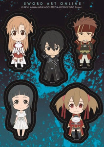 Sword Art Online Sticker Sheet - SD Smile