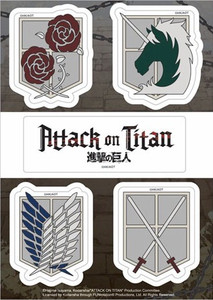 Attack On Titan Sticker Sheet - Emblems