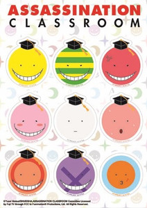 Assassination Classroom Sticker Sheet - Koro Sensei Faces
